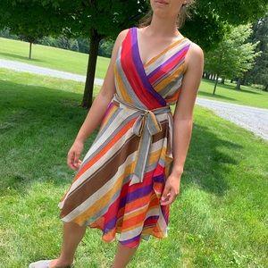 Lauren Ralph Lauren Colorful Wrap Dress